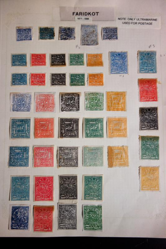 India States Faridkot Rare Stamp Collection mostly mint 1800's