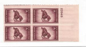 United States, 973, Rough Riders - 50th Plt.Blk(4), MNH