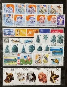ROMANIA Stamp Lot Collection Used T1217