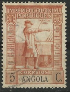 Angola # 275  Vasco de Gama - 5c   (1) VF Used