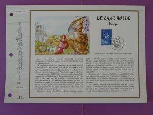 cat Perrault tales Europa Cept FDC folder CEF 1317-1997