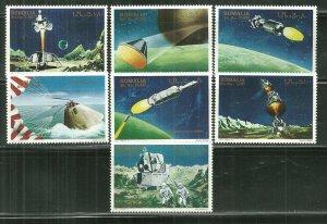 Somalia MNH Set Of 7 Space Exploration