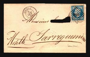 France 1859 Cover Colmar CDS / No Writing Inside - Z15689