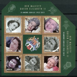 Gibraltar MNH S/S QE II Diamond Jubilee 2012