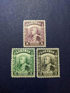Sarawak 109-11 VFMH, CV $8