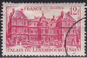 France 591 Hinged Used 1948 Luxembourg Palace