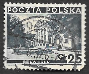 Poland Scott #298 25gr Belvedere Palace (1935) Used