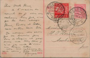 NETHERLANDS POSTAL HISTORY POSTCARD ADDR AMBARAWA JAVA CANCEL P.OERMOND YR'1929