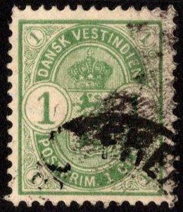 Danish West Indies Scott 21 Used.