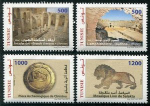 HERRICKSTAMP NEW ISSUES TUNISIA Sc.# 1647-50 Archaeological Sites & Monuments