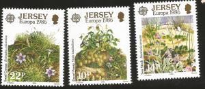 Jersey MNH 396-8 Plants Europa 1986