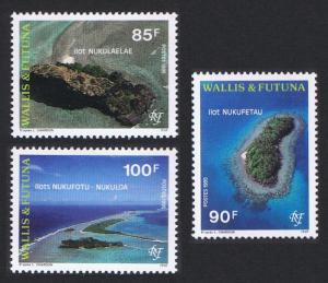 Wallis and Futuna Aerial View of Lagoon Islets 3v SG#655-657 SC#465-467
