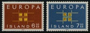 Iceland 357-8 MNH Europa
