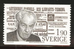 SWEDEN Scott 1172 MNH** 1976 Gothenburg Journal stamp