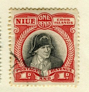 NIUE; 1932 early pictorial issue used No Wmk 1d. value