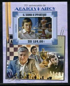 SAO TOME 2021 70th ANNIVERSARY OF ANATOLY KARPOV S/SHEET MINT NEVER HINGED