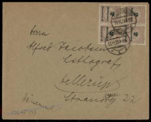 Germany Inflation Cover Nov 19 1923 326AP Last Day Rate to Denmark 72694