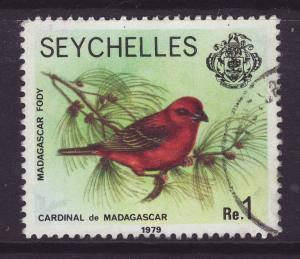 1980 Seychelles 1 Rupee With Imprint Date F/U