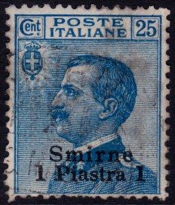 Italy 1909 Levant Postoffice in Turkey Smyrna - Sc. 4 (o) used
