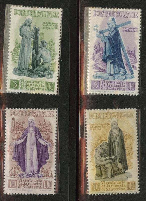 Italy Scott 489-492 MNH** St. Catherine 1948 regular stamps
