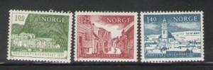 Norway Sc 651-3 1975 Architectural Heritage stamps mint NH