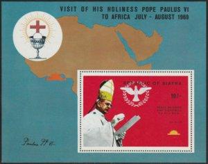 Biafra 1969 Christmas MNH Souvenir Sheet cv $45