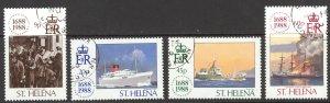 St. Helena Sc# 501-504 SG# 527/30 Used 1988 Lloyds of London