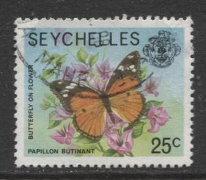 Seychelles - Scott 392 - QEII Definitive -1977 - FU - Single 25c Stamp