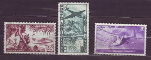J23808 JLstamps 1947 french martinique set used #c10-12 views