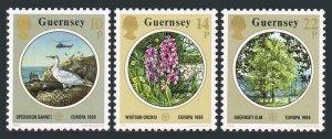 Guernsey 331-333,MNH.Michel 358-360. EUROPE CEPT-1986:Gannet,Orchid,Elm,