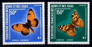 [65630] Afars and Issas 1976 Butterflies  MLH