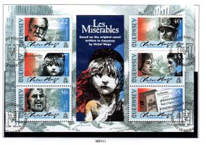Guernsey Sc 767a 2002 Victor Hugo stamp sheet used