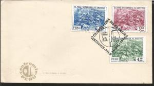 J) 1974 PERU, LA OROYA, MINING CENTER, MULTIPLE STAMPS, AIRMAIL, CIRCULATED COVE
