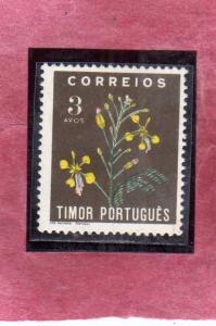 TIMOR PORTUGAL 1950 FLORA FLOWERS FLEURS FIORI 3a MNH