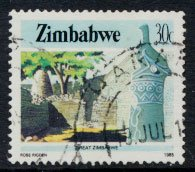 Zimbabwe SG 674  SC# 508  Used   Great Zimbabwe  see detail and scan