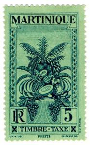 (I.B) France Colonial Postal : Martinique Postage Due 5R