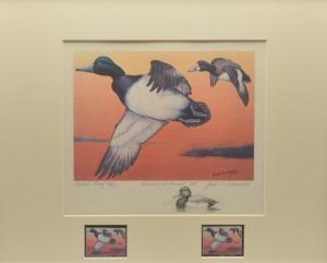 1977 Artist Proof MD STATE WATERFOWL PRINT & REMARQUE by;  ARTIST Jack Schroeder