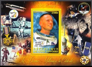 IVORY COAST 2012 SPACE ARMSTRONG APOLLO [#1273]