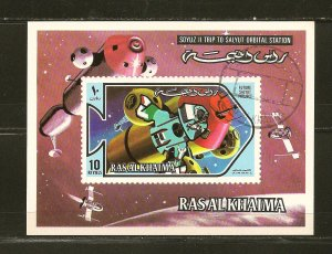 Ras al Khaima Soyuz II Space Souvenir Sheet CTO