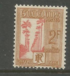 GUADELOUPE, J36, H,  PALM TREE RED