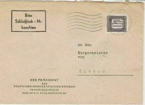 German Democratic Rep. 1956 Internal Use Berlin Cancel Stamps Cover Ref 24429