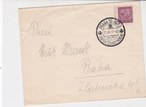 Czechoslovakia 1937 Special Cancel Stamps Cover ref 22543