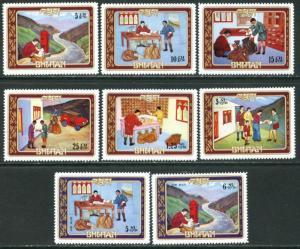 BHUTAN Sc#155-155G 1973 Indipex Philatelic Exhibition Complete Set OG Mint NH