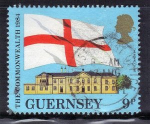 GUERNSEY  SC# 279 **USED** 9p  1984  FLAG  SEE SCAN
