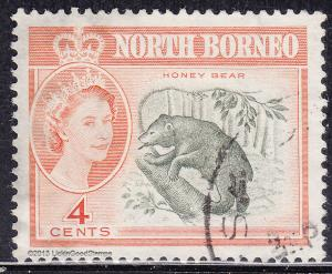 North Borneo 281 USED 1961 Honey Bear