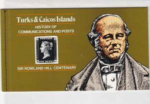 Turks & Caicos Islands Self Adhesive Stamps Booklet Ref 28889