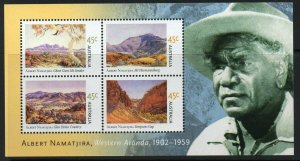 AUSTRALIA SGMS2208 2002 BIRTH CENTENARY OF ALBERT NAMATJIRA MNH