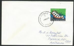 PAPUA NEW GUINEA 1979 cover WEWAK cds......................................59733