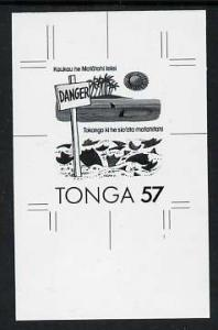 Tonga 1991 Accident Prevention 57s (Safety on the Beach w...