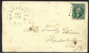 Doyle's_Stamps: U.S. California (Marysville) Postal History of 1861